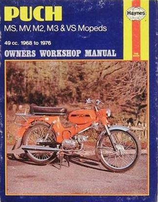 Picture of PUCH MS-MV-M2-M3& VS MOPEDS 49cc 1968-76 N. 0255 - OWNERS WORKSHOP MANUALS