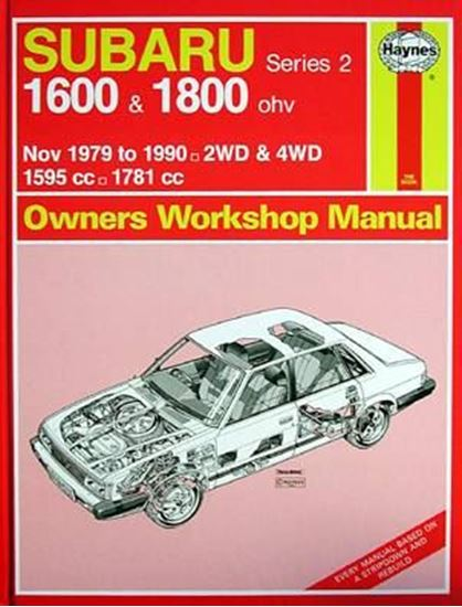 Picture of SUBARU 1600 & 1800, 1979-90 N. 0995 OWNERS WORKSHOP MANUALS