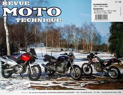 "Picture of SUZUKI XF650 FREEWIND (97/98), DR 650 SE (96/98) N° 108 - SERIE ""REVUE MOTO TECHNIQUE"""