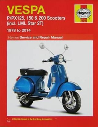 Picture of VESPA P/PX125, 150 & 200 SCOOTERS (incl. LML Star 2T) 1978 to 2014 SERVICE AND REPAIR MANUAL N. 0707
