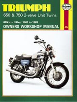 Picture of TRIUMPH 650 & 750 2-VALVE TWINS 1963-83 N. 0122 - OWNERS WORKSHOP MANUALS
