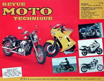 "Picture of TRIUMPH 750-900 3 CYL. (91/94) N° 93 - SERIE ""REVUE MOTO TECHNIQUE"""