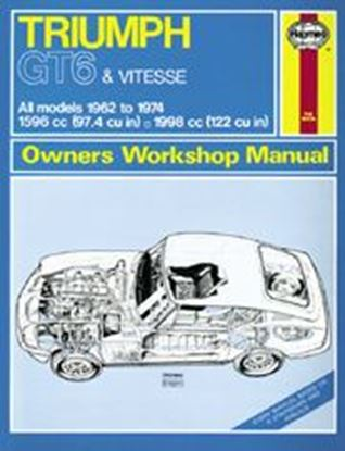 Picture of TRIUMPH GT6 & VITESSE ALL MODELS 1962-74 CLASSIC REPRINT OWNERS WORKSHOP MANUALS N. 112