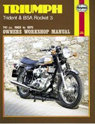 Picture of TRIUMPH TRIDENT & BSA ROCKET 3 1969-75 N. 0136 - OWNERS WORKSHOP MANUALS