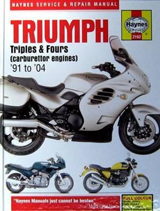 Picture of TRIUMPH TRIPLES & FOURS 1991-2004 N. 2162 - OWNERS WORKSHOP MANUALS