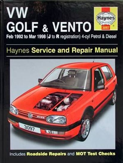 Immagine di VW GOLF/VENTO, 1992-98 N. 3097 OWNERS WORKSHOP MANUALS