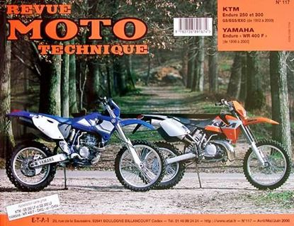 "Picture of YAMAHA ENDURO WR 400 F 1998/2000 N° 117 SERIE ""REVUE MOTO TECHNIQUE"""