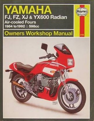 Picture of YAMAHA FJ, XJ, FZ & YX600 RADIAN 1984-92 AIR-COOLED FOURS 598 cc OWNERS WORKSHOP MANUALS N. 2100