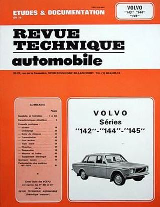 "Immagine di VOLVO SERIES 142 144 145 SERIE ""REVUE TECHNIQUE AUTOMOBILE"" N. 305"