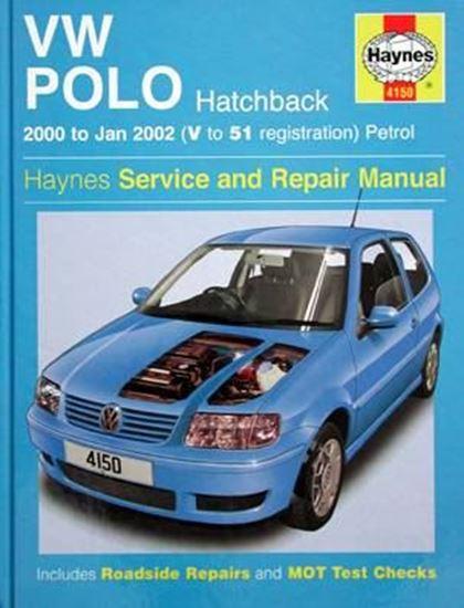 Picture of VW POLO HATCHBACK 2000 to Jan 2002 PETROL SERVICE AND REPAIR MANUAL N. 4150