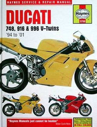 Immagine di DUCATI 748, 916 & 996 V-TWINS 1994-2001 N. 3756 OWNERS WORKSHOP MANUALS