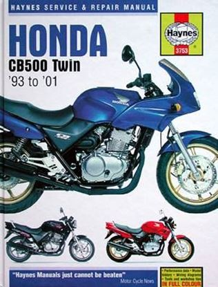Immagine di HONDA CB500 TWIN 1993-2001 OWNERS WORKSHOP MANUALS N. 3753