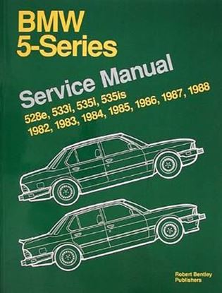 Picture of BMW 5 SERIES SERVICE MANUAL: 1982-1988 528E, 533I, 535I, 535IS.