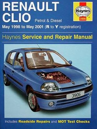 Picture of RENAULT CLIO 1998 TO 2001 (R TO Y REGISTRATION) PETROL & DIESEL N. 3906 OWNERS WORKSHOP MANUALS