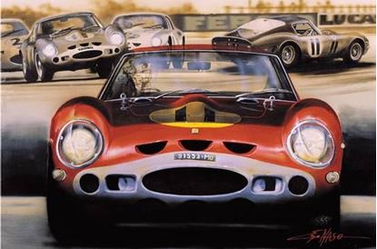 Picture of GTO #3944, GOODWOOD 1963 Litografia/Litograph