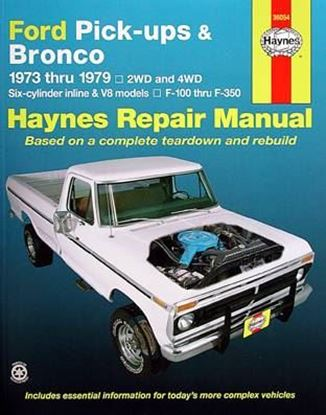 Immagine di FORD PICK-UPS & BRONCO 1973-79, 2WD and 4WD N. 36054 OWNERS WORKSHOP MANUALS