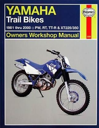 Immagine di YAMAHA TRAIL BIKES 1981-2000, PW, RT, TT-R & XT225/350 N. 2350 OWNERS WORKSHOP MANUALS