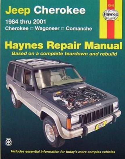Picture of JEEP CHEROKEE 1984 THRU 2001 N. 50010 OWNERS WORKSHOP MANUALS