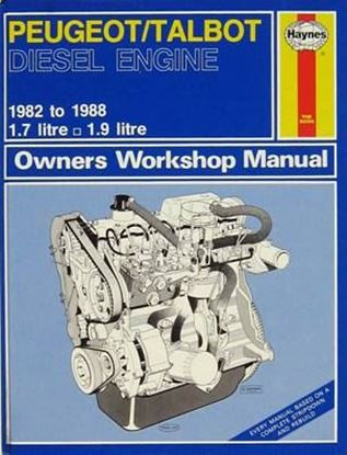 Immagine di PEUGEOT/TALBOT DIESEL ENGINE 1.7 1.9 1982-1988 N. 0950 OWNERS WORKSHOP MANUALS