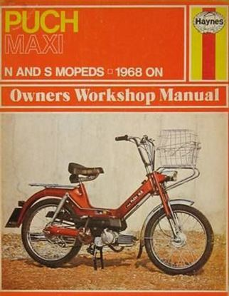 Picture of PUCH MAXI MOPEDS N AND S MOPEDS - 1968 ON N. 0107 OWNERS WORKSHOP MANUALS