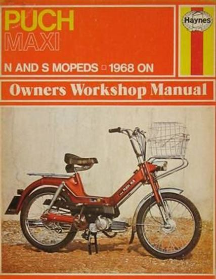 Immagine di PUCH MAXI MOPEDS N AND S MOPEDS - 1968 ON N. 0107 OWNERS WORKSHOP MANUALS