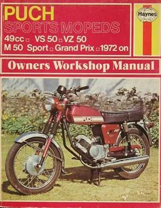 Picture of PUCH SPORTS MOPEDS 49cc VS50 - VZ50 - M50 Sport - Grand Prix - 1972 on N. 0318 OWNERS WORKSHOP MANUALS
