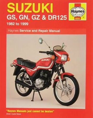 Picture of SUZUKI GS-GN-GZ & DR125 1982-1999 N. 0888 SERVICE AND REPAIR MANUAL