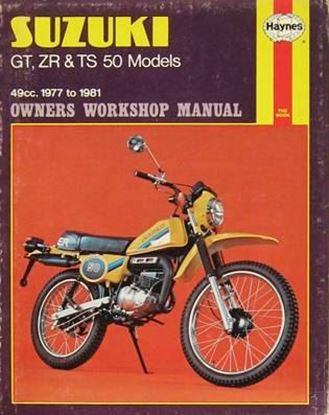Picture of SUZUKI GT ZR & TS 50 MODELS 1977-81 49cc OWNERS WORKSHOP MANUALS N. 0799