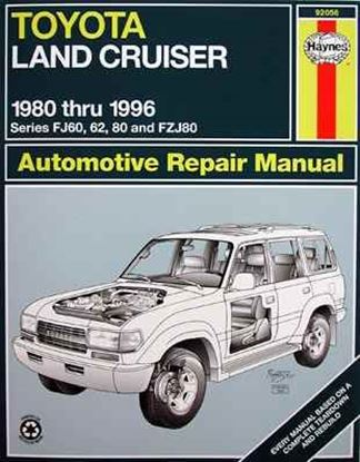 Picture of TOYOTA LAND CRUISER 1980 THRU 1996 N. 92056 OWNERS WORKSHOP MANUALS