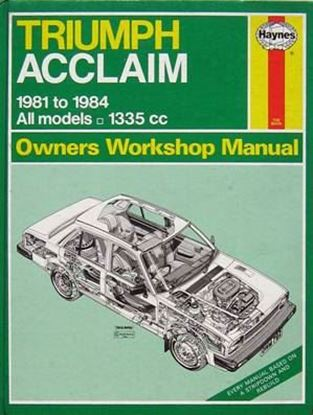 Picture of TRIUMPH ACCLAIM 1981 to 1984 ALL MODELS N. 0792 OWNERS WORKSHOP MANUALS
