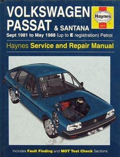 Picture of VW PASSAT & SANTANA 1981 to 1988 N. 0814 OWNERS WORKSHOP MANUALS
