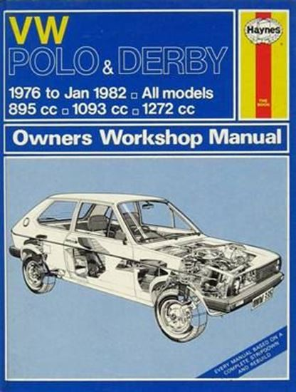 Picture of VW POLO & DERBY 1976 to JAN 1982 ALL MODELS 895cc - 1093cc -1972 cc N. 0335 OWNERS WORKSHOP MANUALS
