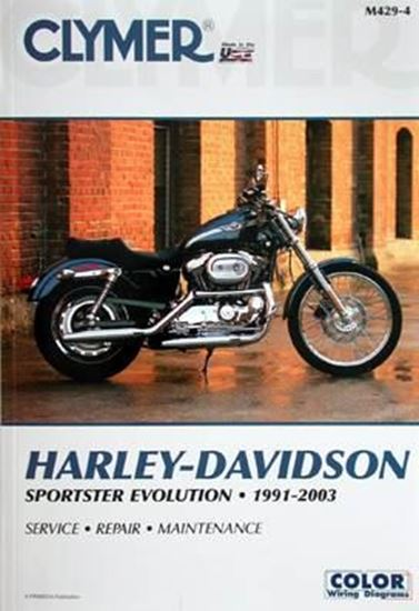 Picture of HARLEY-DAVIDSON SPORTSTER EVOLUTION 1991-2003 CLYMER REPAIR MANUALS M429-4