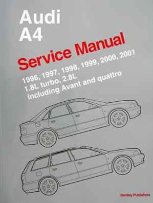 Picture of AUDI A4 SERVICE MANUAL 1996-2001
