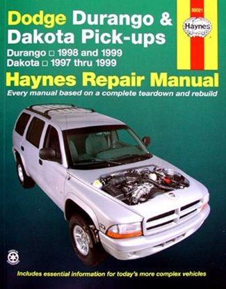 Picture of DODGE DURANGO & DAKOTA PICK-UPS 1997-1999 N. 30021 OWNERS WORKSHOP MANUALS