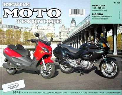 "Picture of PIAGGIO X9 125 cm3 (2000-2001) - SERIE ""REVUE MOTO TECHNIQUE"" N° 124"