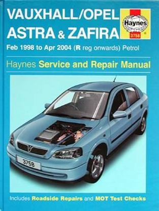 Immagine di VAUXHALL/OPEL ASTRA & ZAFIRA PETROL (1998-2004)- OWNERS WORKSHOP MANUALS N. 3758