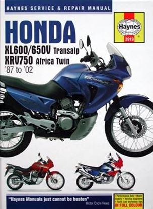 Picture of HONDA XL600/650V Transalp XRV750 Africa Twin '87-'02 – OWNERS WORKSHOP MANUAL N. 3919