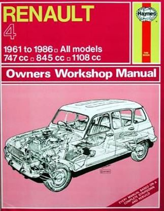 Picture of RENAULT 4 1961 TO 1986 CLASSIC REPRINT– OWNERS WORKSHOP MANUAL N. 072