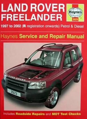 Picture of LAND ROVER FREELANDER 1997 TO 2002 PETROL & DIESEL – OWNERS WORKSHOP MANUAL N. 3929