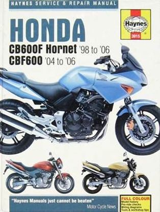 Immagine di HONDA CB600F & CB600FS HORNET '98 TO '06 – OWNERS WORKSHOP MANUAL N. 3915