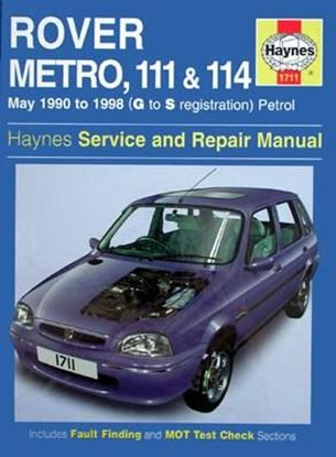 Picture of ROVER METRO, 111 & 114 May 1990 to 1998 (G to S registration) PETROL SERVICE & REPAIR MANUAL N. 1711