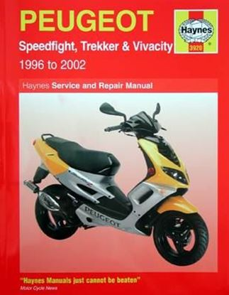 Immagine di PEUGEOT SPEEDFIGHT, TREKKER & VIVACITY 1966 TO 2002 SERVICE & REPAIR MANUAL N. 3920