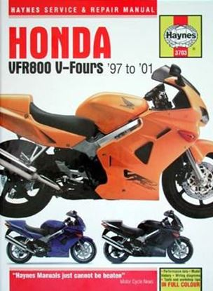 Immagine di HONDA VFR800 V-FOURS '97 to '01 SERVICE & REPAIR MANUAL N. 3703