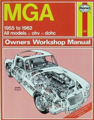 Immagine di MGA 1955-62 ALL MODEL CLASSIC REPRINT OWNER WORKSHOP MANUAL N. 475