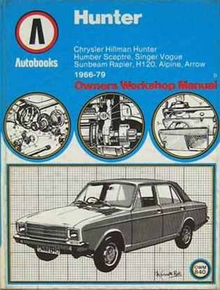 Picture of HUNTER: CHRYSLER HILLMAN HUNTER 1966-79 AUTOBOOKS OWNERS WORKSHOP MANUAL