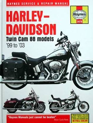 Picture of HARLEY-DAVIDSON TWIN CAM 88 MODELS '99 TO '03 SERVICE & REPAIR MANUAL N. 2478