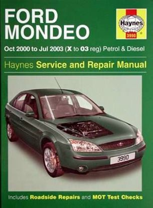 Picture of FORD MONDEO Oct 2000 to Jul 2003 Petrol & Diesel SERVICE & REPAIR MANUAL N. 3990