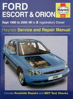 Picture of FORD ESCORT & ORION Sept 1990 to 2000 (H to X registration) DIESEL SERVICE AND REPAIR MANUAL N. 4081