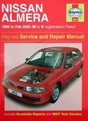 Picture of NISSAN ALMERA 1995 to Feb 2000 (N to V registration) PETROL SERVICE AND REPAIR MANUAL N. 4053
